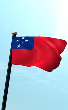 Samoa Flag 3D Free Wallpaper screenshot 10