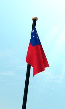 Samoa Flag 3D Free Wallpaper screenshot 2