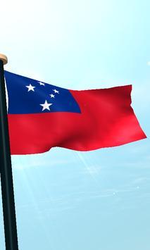 Samoa Flag 3D Free Wallpaper screenshot 3