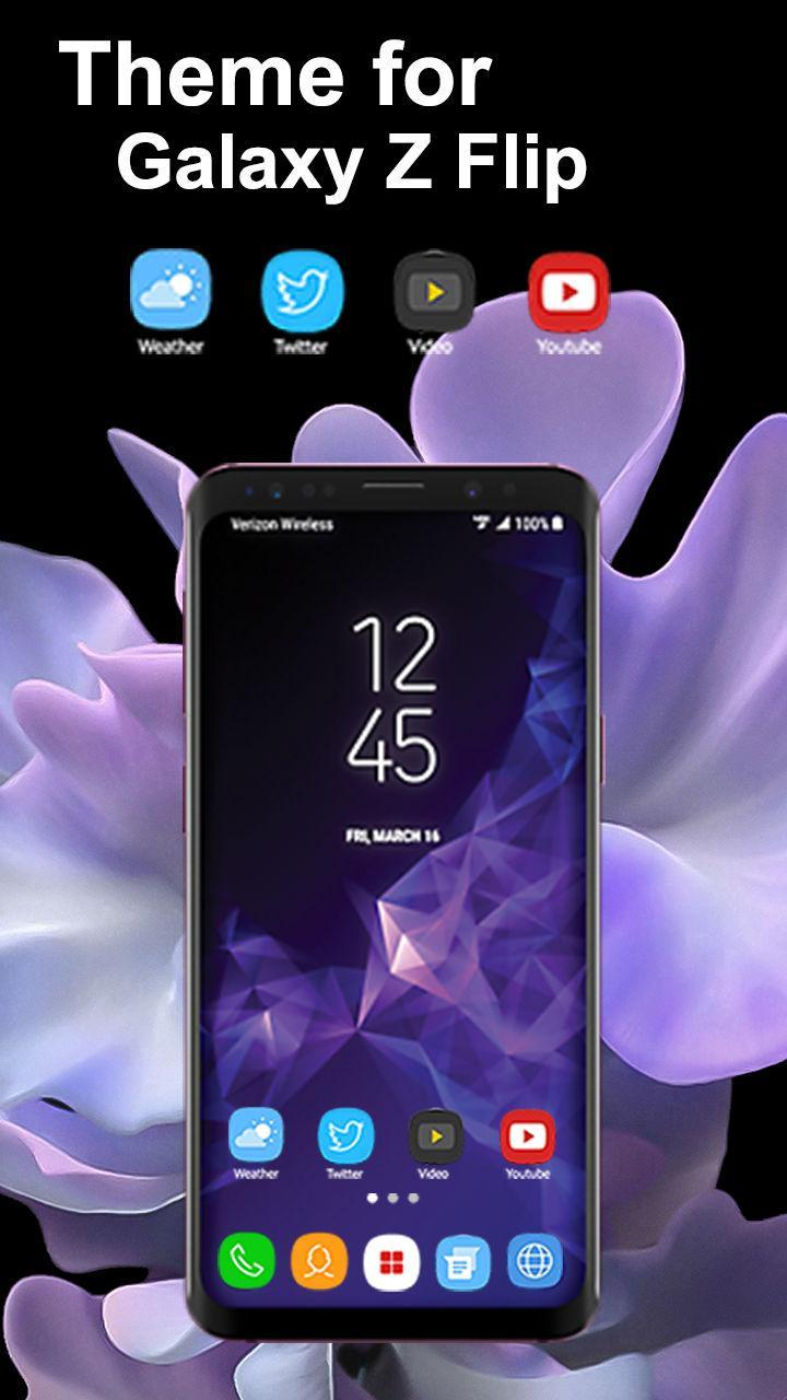 Launcher Theme For Galaxy Z Flip Wallpaper For Android Apk Download