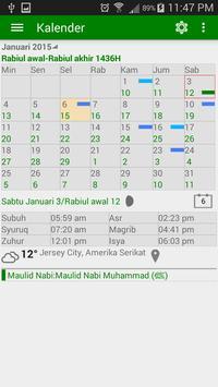 Waktu Shalat & Kalendar Islam poster