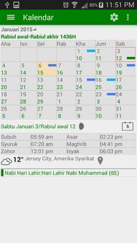 Waktu Solat dan Kalendar Islam penulis hantaran