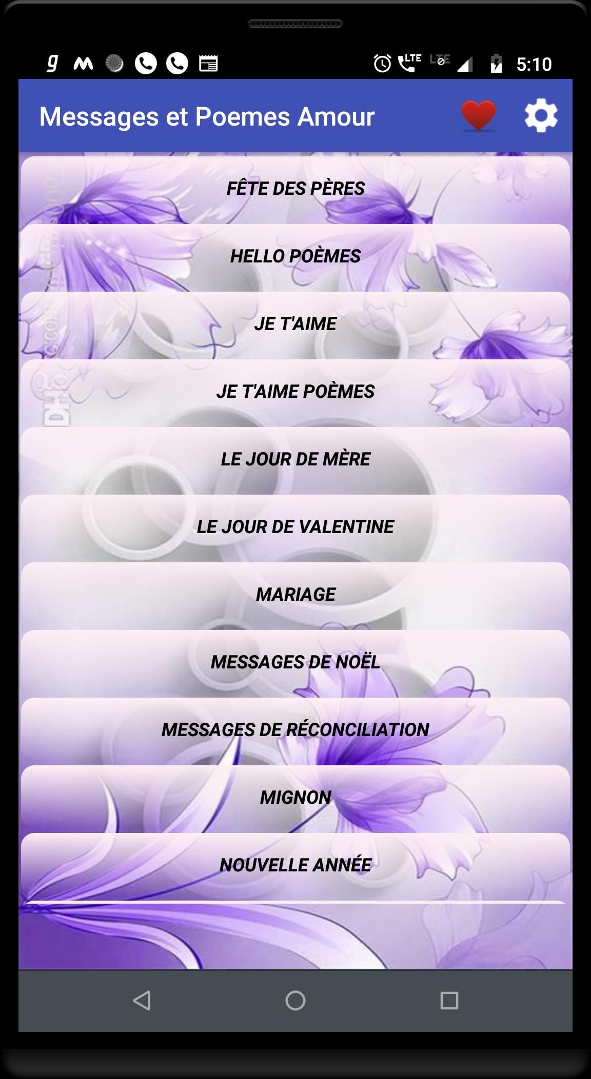 Messages Et Poemes Damour For Android Apk Download
