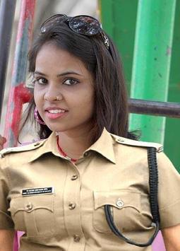 Ladies Police Photo Frame poster