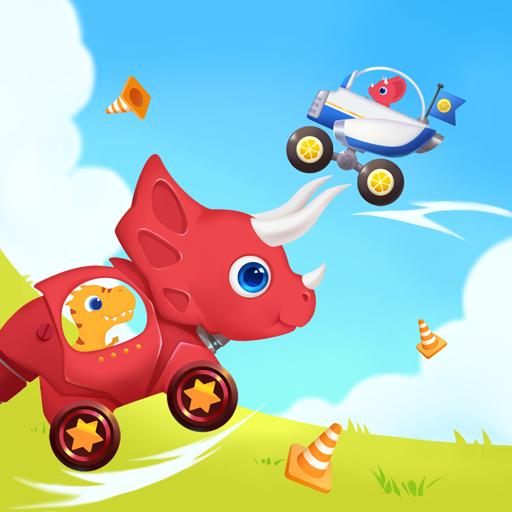 恐竜スマッシュ: 子供向けのドライビングゲーム