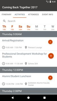 Syracuse University Events screenshot 2