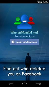Who unfriended me? poster