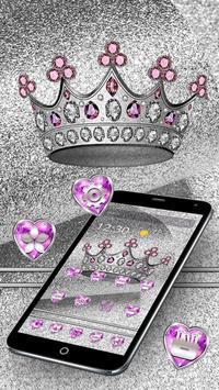 Imperial Silver Glitter Crown Theme screenshot 4