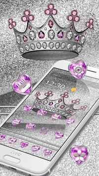 Imperial Silver Glitter Crown Theme screenshot 2