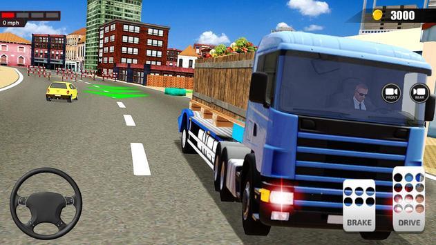 送货卡车模拟器2019:3D叉车游戏 截图 1