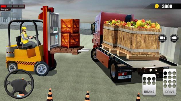 送货卡车模拟器2019:3D叉车游戏 截图 10