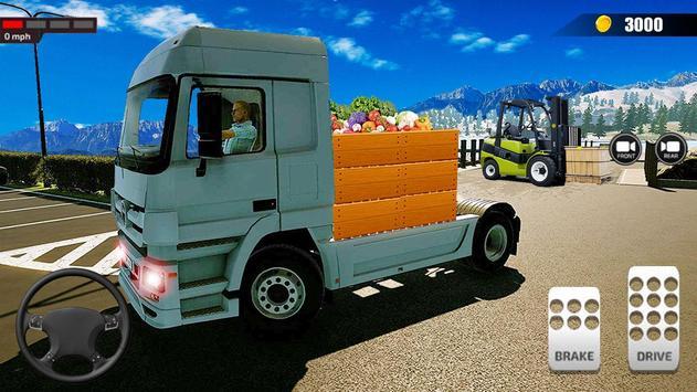 送货卡车模拟器2019:3D叉车游戏 截图 3