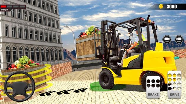 送货卡车模拟器2019:3D叉车游戏 截图 2