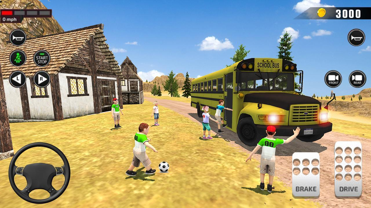 Offroad School Bus Driving: Flying Bus Games 2020 poster