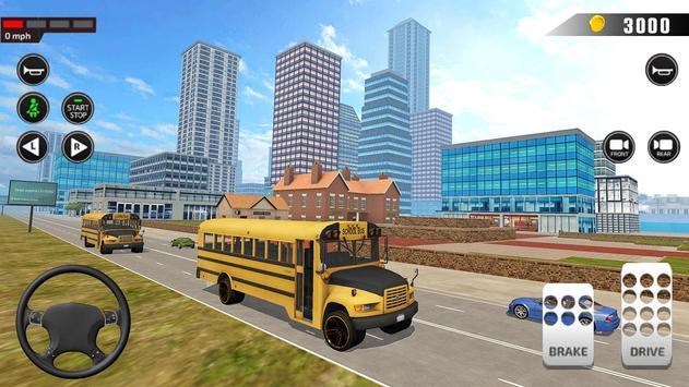Offroad School Bus Driving: Flying Bus Games 2020 screenshot 13