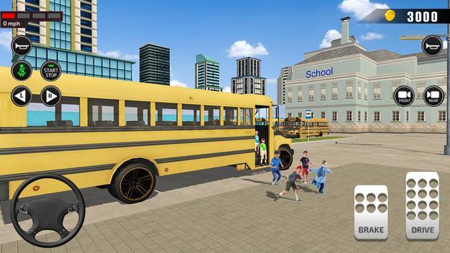 Offroad School Bus Driving: Flying Bus Games 2020 screenshot 11