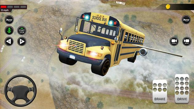 Offroad School Bus Driving: Flying Bus Games 2020 screenshot 14