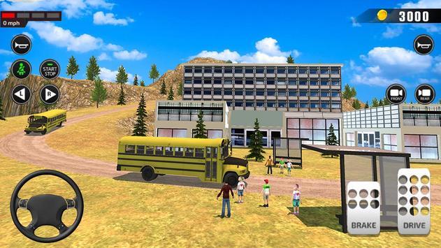Offroad School Bus Driving: Flying Bus Games 2020 screenshot 15