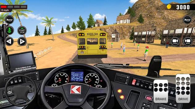 Offroad School Bus Driving: Flying Bus Games 2020 screenshot 16