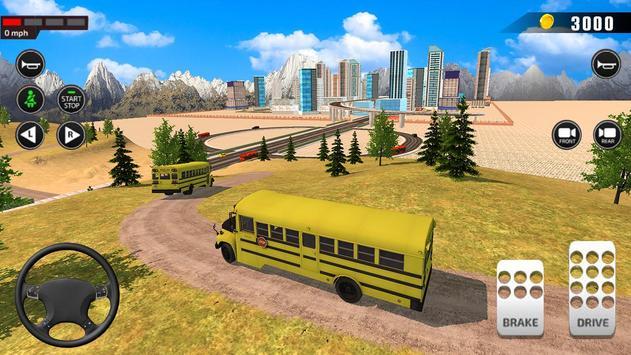 Offroad School Bus Driving: Flying Bus Games 2020 screenshot 2