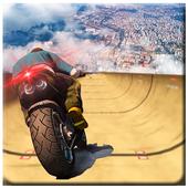 impossível rampa moto moto cavaleiro Super heroi ícone