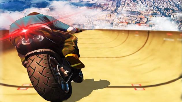 impossível rampa moto moto cavaleiro Super heroi Cartaz