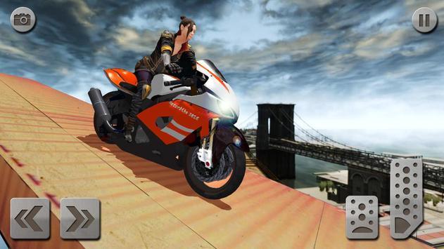 impossível rampa moto moto cavaleiro Super heroi imagem de tela 1