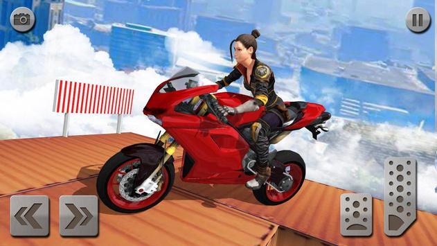 impossível rampa moto moto cavaleiro Super heroi imagem de tela 2