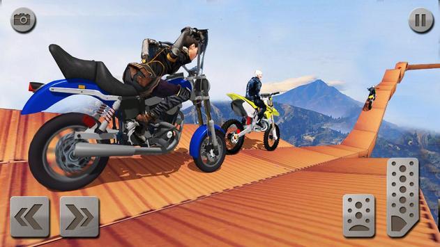 impossível rampa moto moto cavaleiro Super heroi imagem de tela 4