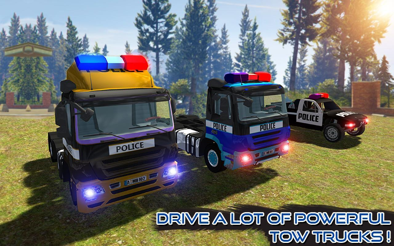 US Police Tow Truck Transport Simulator Game 2019 for