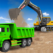 Sand Excavator Truck Driving Rescue Simulator game icon