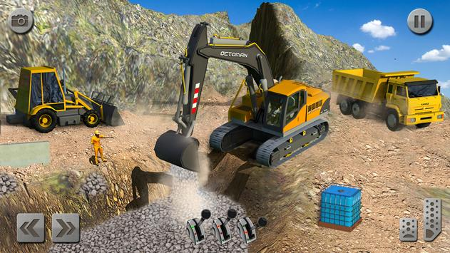 Sand Excavator Truck Driving Rescue Simulator game