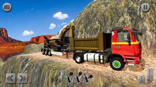 Sand Excavator Truck Driving Rescue Simulator game screenshot 4