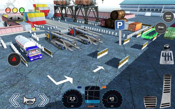 3D Truck Parking Simulator 2019: Real Truck Games screenshot 21