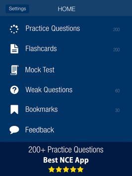 NCE Counselor Practice Test Prep 2020 تصوير الشاشة 5