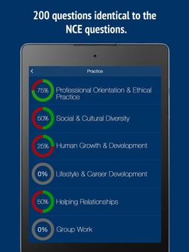 NCE Counselor Practice Test Prep 2020 تصوير الشاشة 6