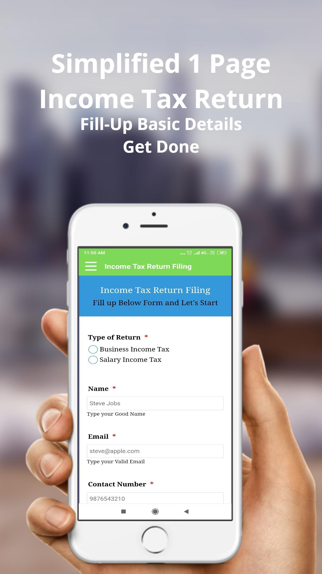 Income Tax Return Filing App : Efiling App 2019 for Android - APK