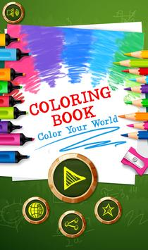 Coloring Pages - Sketchbook art therapy poster