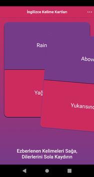 İngilizce Kelime Kartları screenshot 1