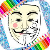 Mask Coloring Book icon
