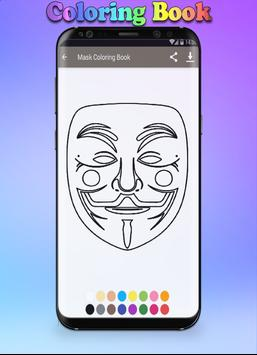 Mask Coloring Book screenshot 2