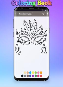 Mask Coloring Book screenshot 3