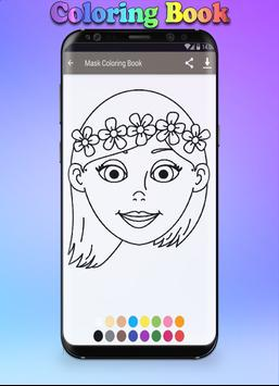 Mask Coloring Book screenshot 4