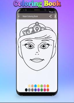 Mask Coloring Book screenshot 7