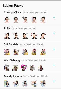WA Sticker Artis Indo Pelawak for WhatsApp screenshot 10