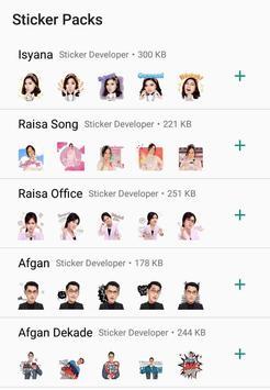 WA Sticker Artis Indo Pelawak for WhatsApp screenshot 9