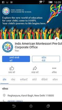 Indo American Montessori Pre School - ERP poster