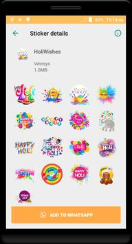 Holi Stickers screenshot 13