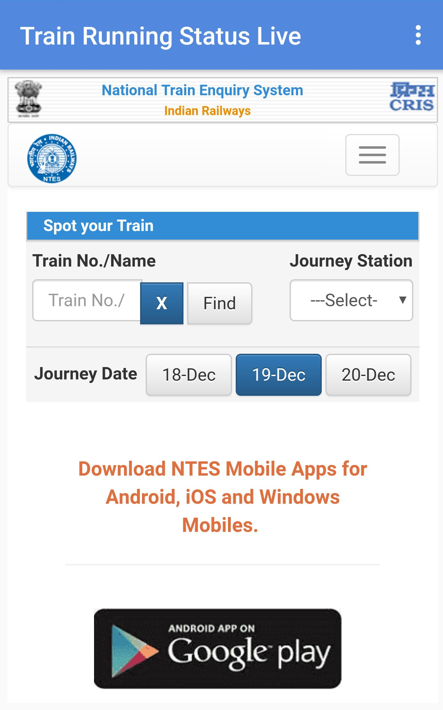 Train Live Status - Train Live Track for Android - APK Download