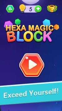 Hexa Block Puzzle! تصوير الشاشة 1